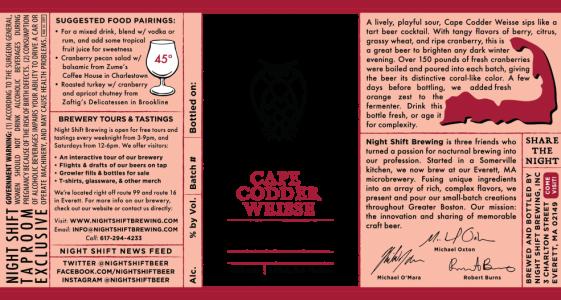 Night Shift Brewing - Cape Codder Weisse