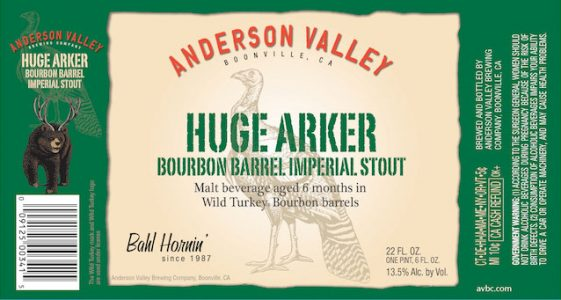 Anderson Valley Huge Arker Final Label