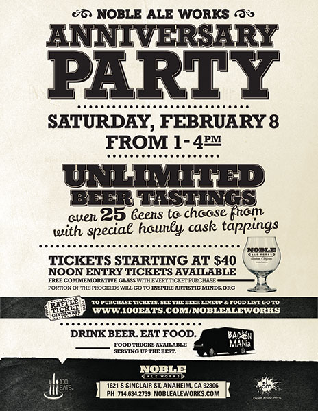Noble Ale Works - 3rd Anniversary Party