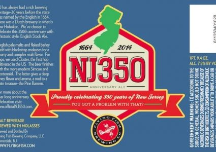 Flying Fish NJ 350 Anniversary Ale