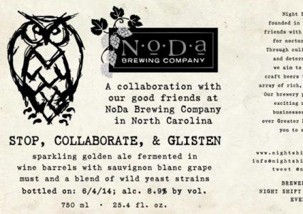 Night Shift Brewing / NoDa Brewing Collaboration - Stop, Collaborate, & Glisten