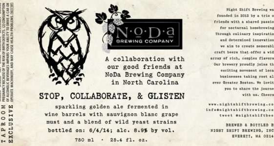 Night Shift Brewing / NoDa Brewing Collaboration - Stop, Collaborate, & Glisten