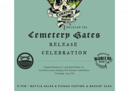Pisgah Brewing & Burial Beer - Cemetary Gates Release Poster