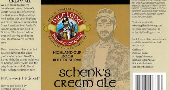 Highland Schenks Cream Ale