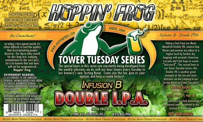 Hoppin Frog Infusion B Double IPA