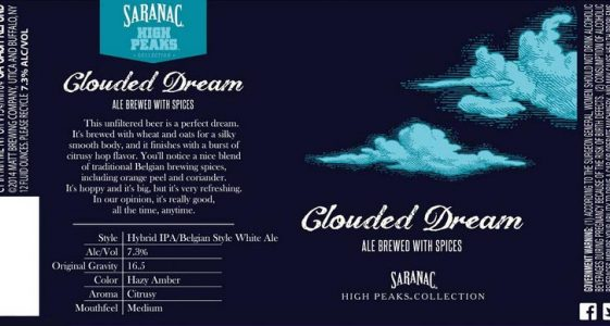 Saranac Clouded Dream White IPA