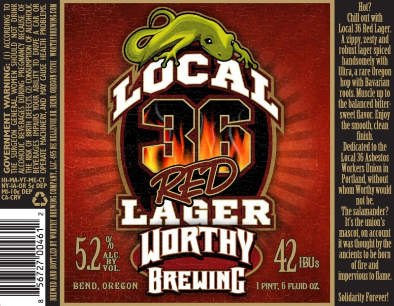 Worthy Local 36 Red Lager