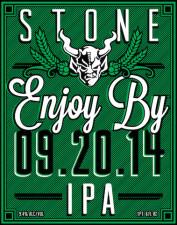 Stone Enjoy By 09.20.14 IPA
