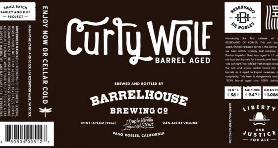 BarrelHouse Brewing - Curly Wolf (label)