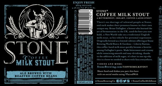 Stone Brewing Co. - Stone Coffee Milk Stout (label)