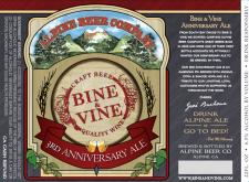 Alpine Beer Co. - Bine & Vine 3rd Anniversary Ale