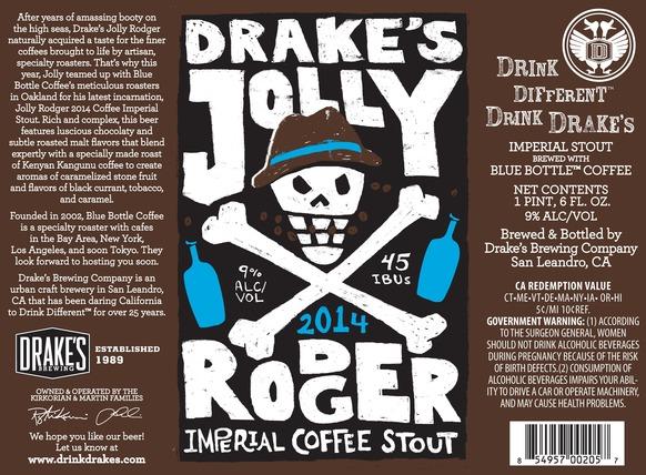 Drakes Jolly Rodger 2014
