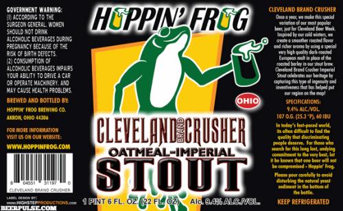 Hoppin Frog Cleveland Crusher
