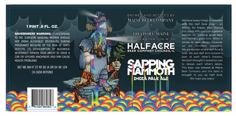 Maine Beer Half Acre Sapping Mammoth