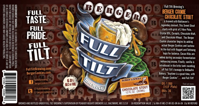 Full Tilt Brewing - Berger Cookie Chocolate Stout
