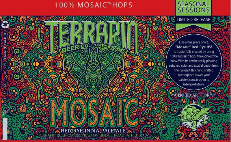 Terrapin Mosaic Red Rye IPA 12 oz Can