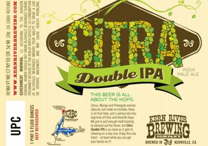 Kern River CItra DIPA Label