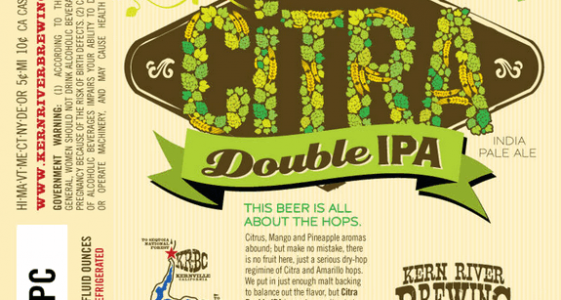 Kern River CItra DIPA Label