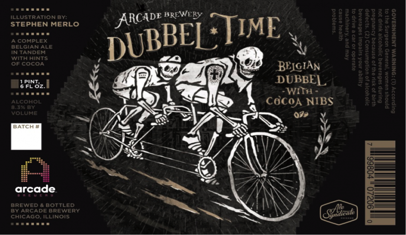 Arcade Brewing Dubbel Time Label