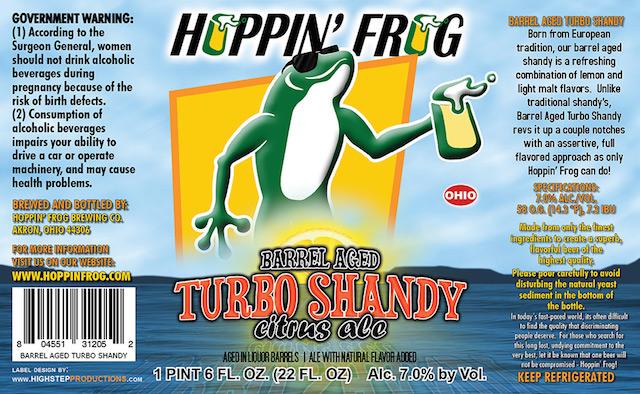 Hoppin Frog Barrel Aged Turbo Shandy