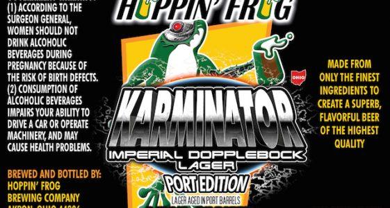 Hoppin Frog Karminator aged in Port Barrels