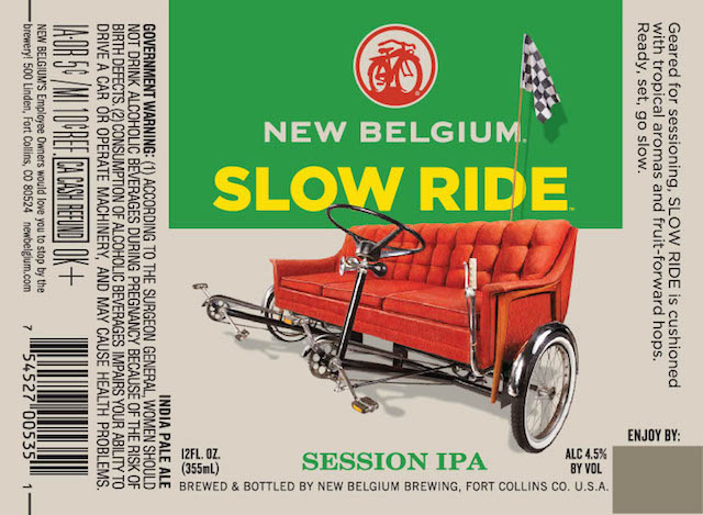New Belgium Slow Ride Session IPA Bottle Label