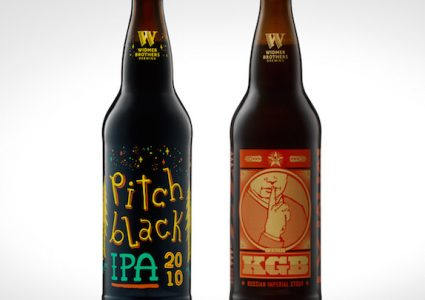 Widmer Pitch Black and KGB Bottle Shot
