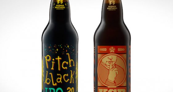 Widmer Pitch Black and KGB Bottle Shot