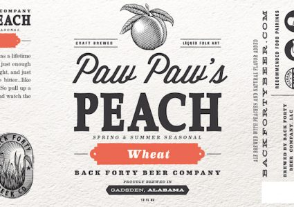 Back Forty Paw Paw's Peach Wheat