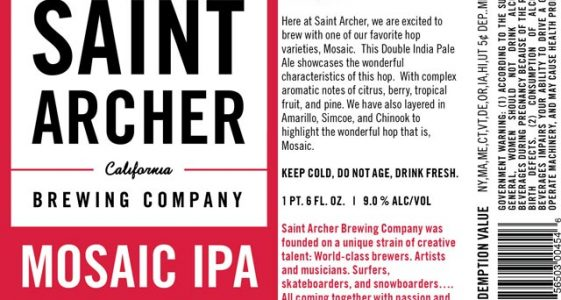 Saint Archer Mosaic Double IPA