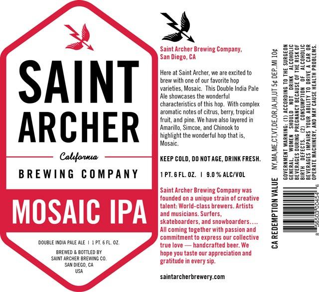 Saint Archer Mosaic Double IPA