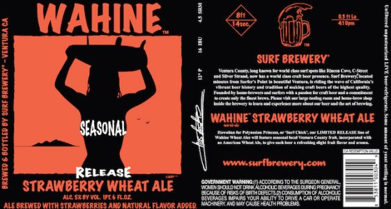 Surf Brewery Strawberry Wahine