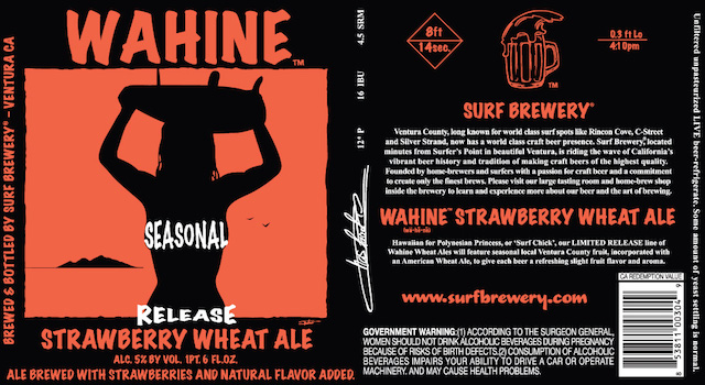 Surf Brewery Strawberry Wahine