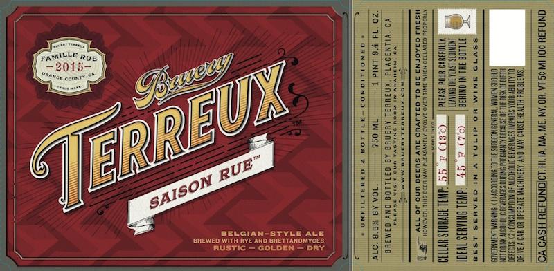 The Bruery Terreux Saison Rue