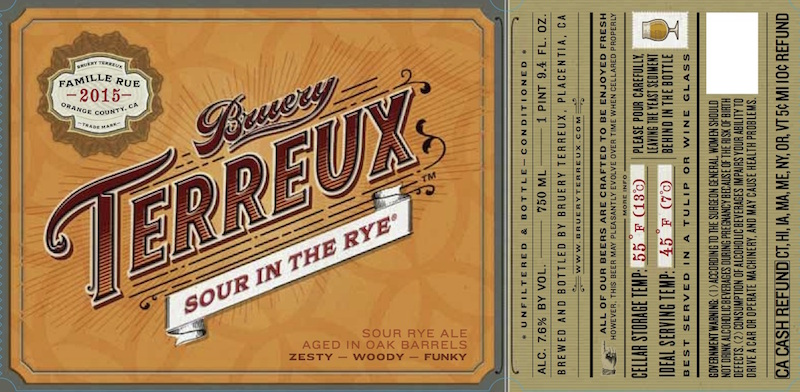 The Bruery Terreux Sour in the Rye