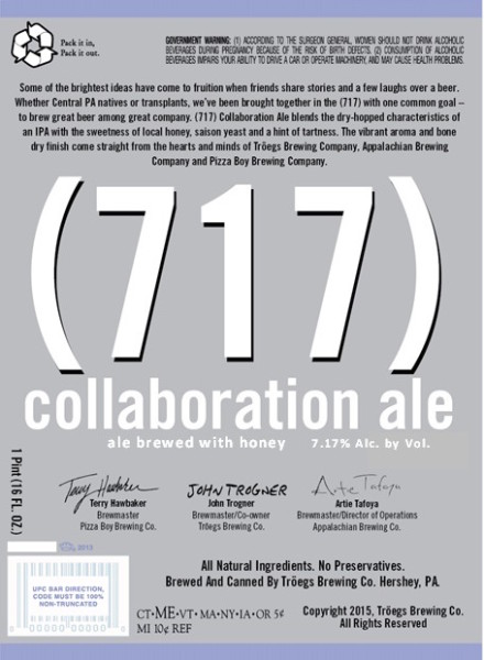 Troegs 717 Collaboration Ale