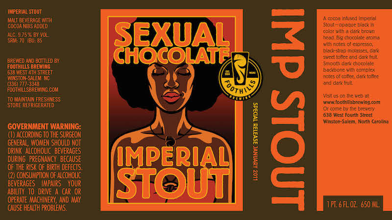 Foothills Sexual Chocolate Label