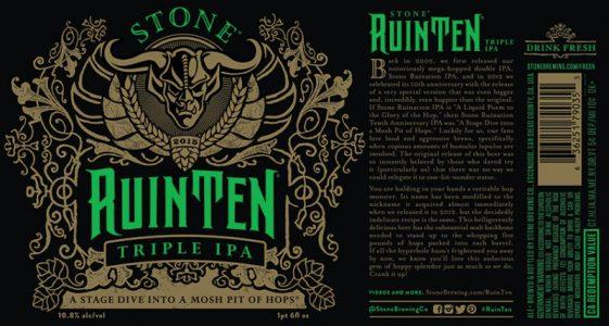 Stone RuinTEN 2015 Label