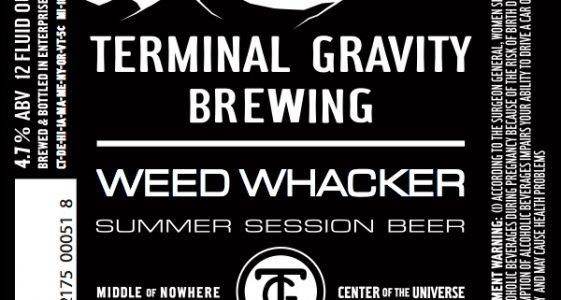 Terminal Gravity Weed Whacker Label