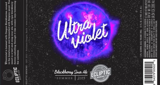 Ecliptic Brewing Ultraviolet Blackberry Sour Ale