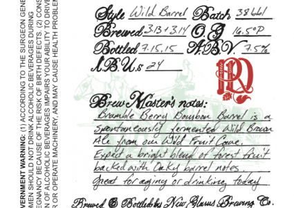 New Glarus Bramble Berry Bourbon Barrel 2015