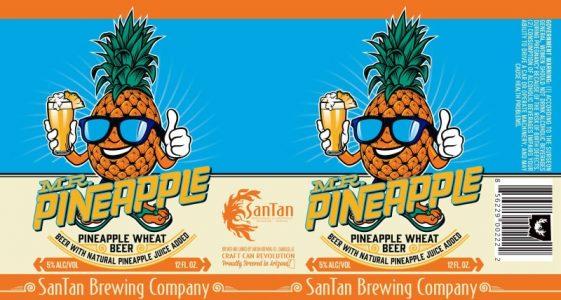 SanTan Mr Pineapple Can Label
