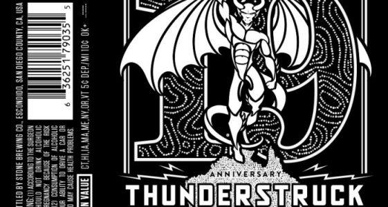 Stone 19th Anniversary Thunderstruck IPA Front
