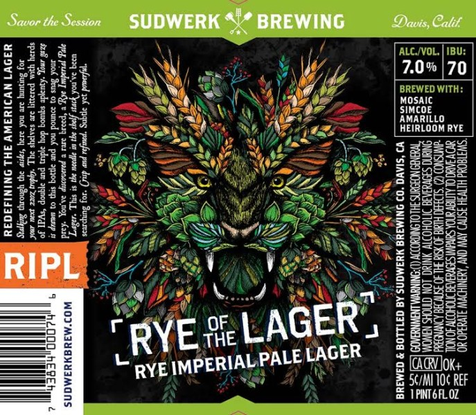 Sudwerk Rye of the Lager - Rye Imperial Pale Lager
