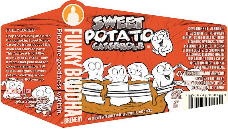 Funky Buddha Sweet Potato Casserole