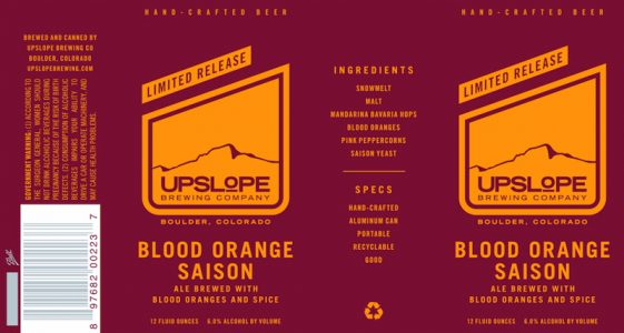 Upslope Blood Orange Saison
