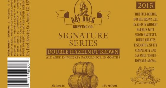 Dry Dock Brewing - Double Hazelnut Brown 2015