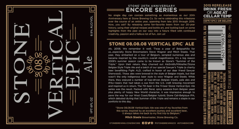 Stone 080808 Vertical Epic Ale Kicks Off Stone 20th Anniversary