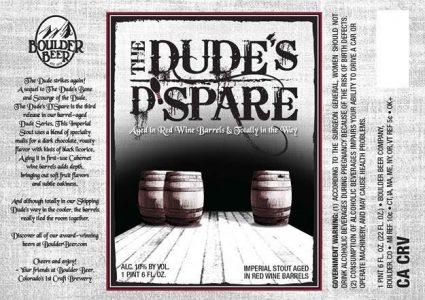 Boulder Beer - The Dudes D'Spare