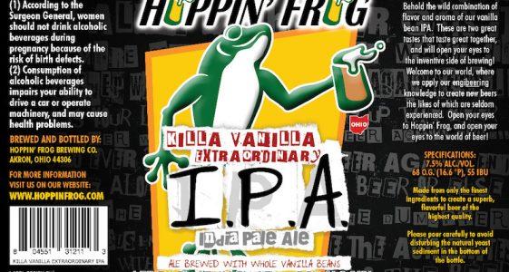 Hoppin Frog Killa Vanilla Extraordinary IPA